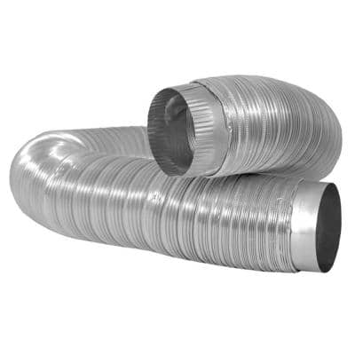 4.4 in. W x 4.4 in. H x 24.55 in. L Heavy Duty Aluminum Duct with Collars