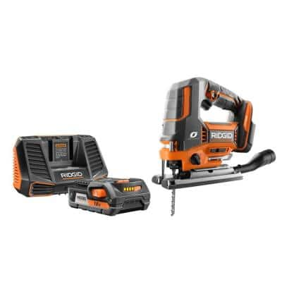 18-Volt OCTANE Jig Saw with 18-Volt Lithium-Ion 2.0 Ah Battery and Charger Kit