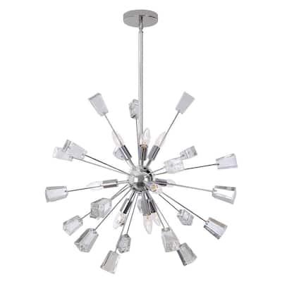 Sputnik 9-Light Crystal And Chrome Chandelier