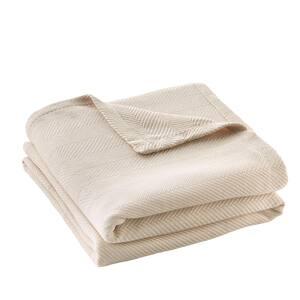 Cotton TENCEL Blend Full/Queen Blanket in Ballet Beige
