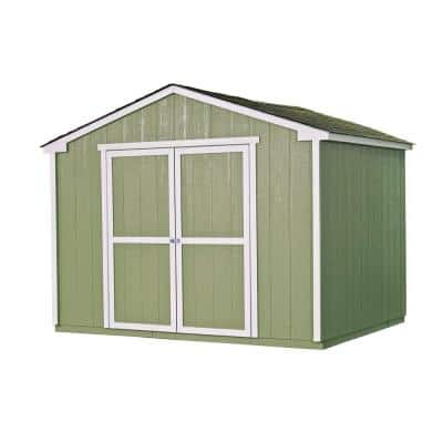 Cumberland 10 ft. x 8 ft. Wood Shed Kit with Floor Frame