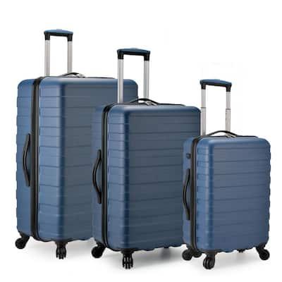 Bondi 3-Piece Navy Spinner Luggage with Smart USB Port
