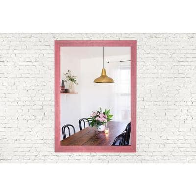 Medium Rectangle Weathered Pink French Provincial Mirror (32 in. H x 24 in. W)