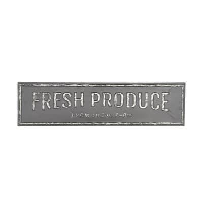 FRESH PRODUCE FROM LOCAL FARM Iron Decorative Sign