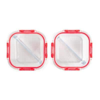 Divided Glass Food Storage with Lids (2-Pack)