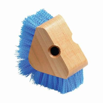 5 in. Triangle Floor and Baseboard Scrubber with Stiff Blue Polypropylene Bristles (12-Case)