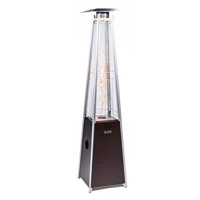 40,000 BTU Mocha Quartz Glass Tube Patio Flame Heater