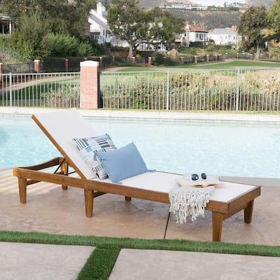 Eva Teak Wood Outdoor Chaise Lounge