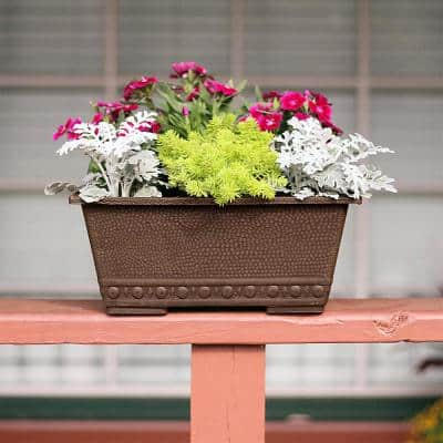 13 in. x 9 in. Chocolate Composite Window Box