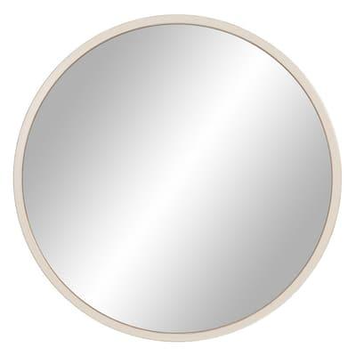 Medium Round White Modern Mirror (30 in. H x 30 in. W)