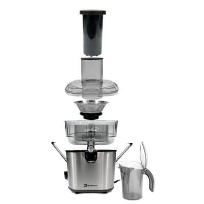 Kitchen Magic Collection 50 oz. Black 2-Speed Juice Extractor