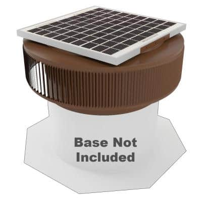 1007 CFM Brown Powder Coated 15-Watt Solar Powered 14 in. Dia Retrofit Attic Roof Fan