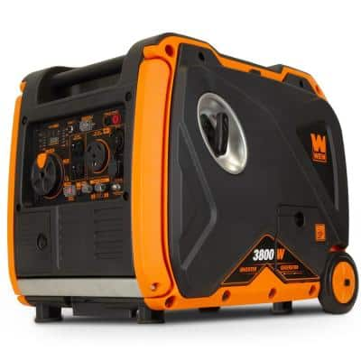 Super Quiet 3800-Watt Gas-Powered RV-Ready Portable Inverter Generator with Fuel Shut-Off and Electric Start