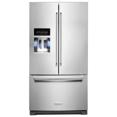 27 cu. ft. French Door Refrigerator in PrintShield Stainless with Exterior Ice and Water
