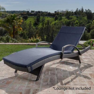 Miller Navy Blue Outdoor Chaise Lounge Cushion
