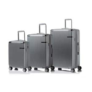 CHAMPS Legacy 28 in.,24 in., 20 in. Silver Hardside Luggage Set with Spinner Wheels (3-Piece)