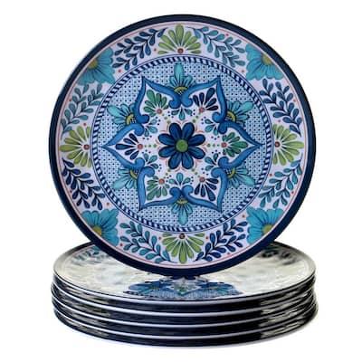 Talavera 6-Piece Blue Dinner Plate Set