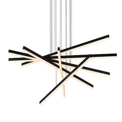 Sirius 93.88-Watt Integrated LED Black Pendant