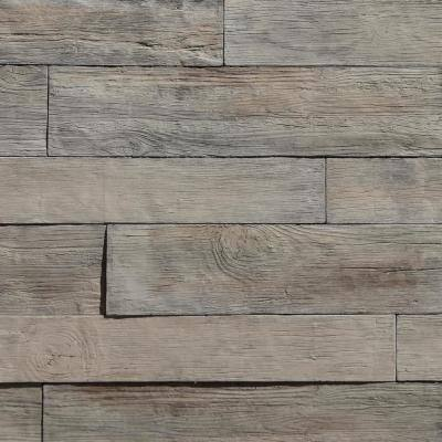 Woodstone Birch 35.50 in. x 8 in. Manufactured Stone Panel Siding 8.40 sq. ft. Flats