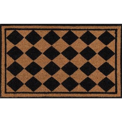 Harlequin Black 1 ft. 6 in. x 2 ft. 6 in. Doormat