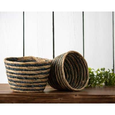 Seagrass Storage Baskets Home Accents The Home Depot