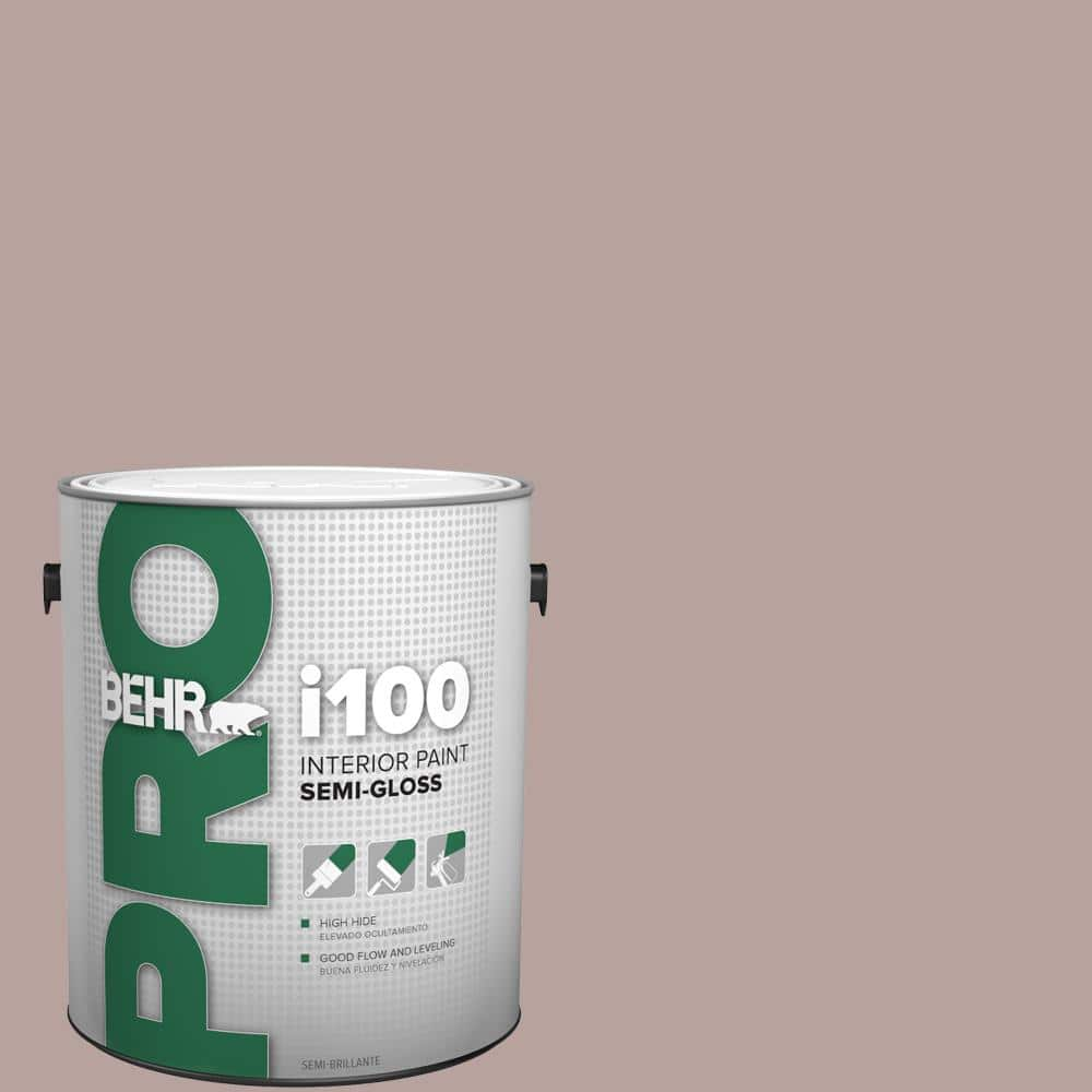 Behr Pro 1 Gal 720b 4 Desert Echo Semi Gloss Interior Paint Pr17001 The Home Depot