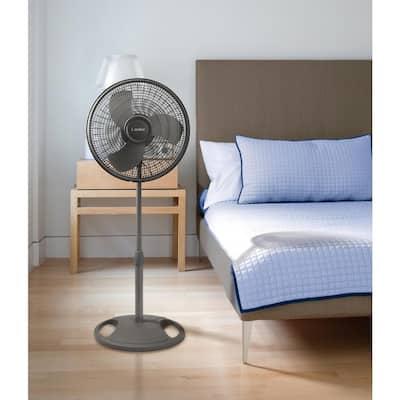 Adjustable-Height 16 in. Oscillating Pedestal Fan