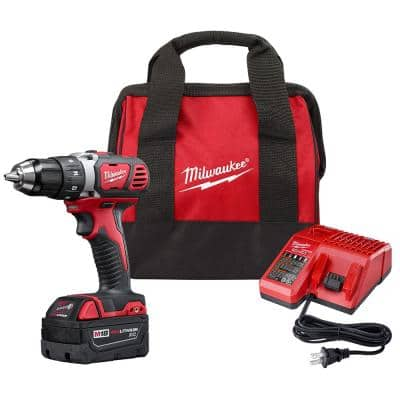 M18 18-Volt Lithium-Ion Cordless 1/2 in. Drill Driver Kit W/ (1) 3.0Ah Battery, Charger & Bag