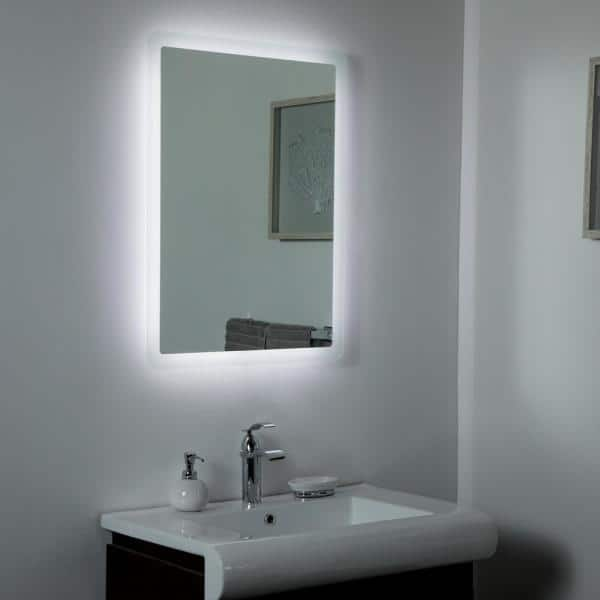 Decor Wonderland 24 In W X 32 H, Home Depot Bathroom Mirror Led
