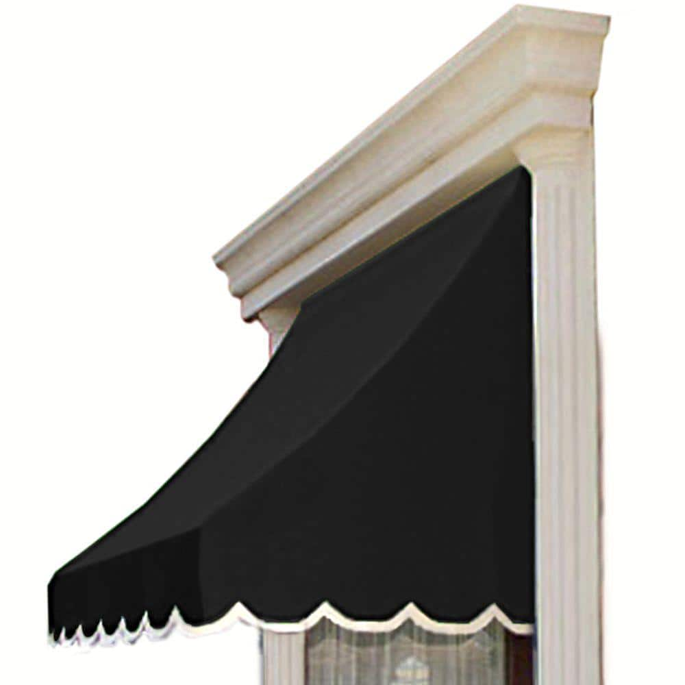 Awntech 10 38 Ft Wide Nantucket Window Entry Awning 44 In H X 36 In D In Black Nn33 10k The Home Depot