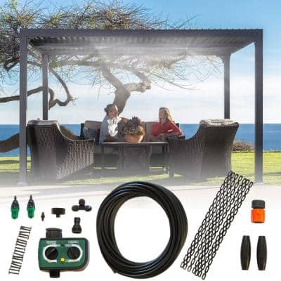 Universal Outdoor DIY Misting System with Timer - 50 ft.