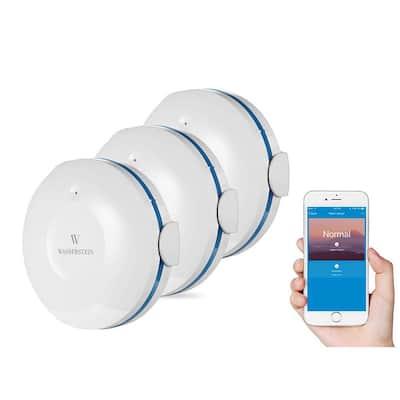 Smart Wi-Fi Water Sensor, Flood and Leak Detector Alarm and App Notification Alerts (3 Pack)