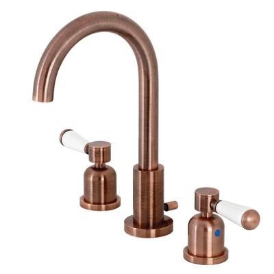 Paris 8 in. Widespread 2-Handle Bathroom Faucet in Antique Copper