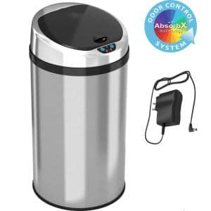 8 Gal. Stainless Steel Motion Sensing Touchless Trash Can
