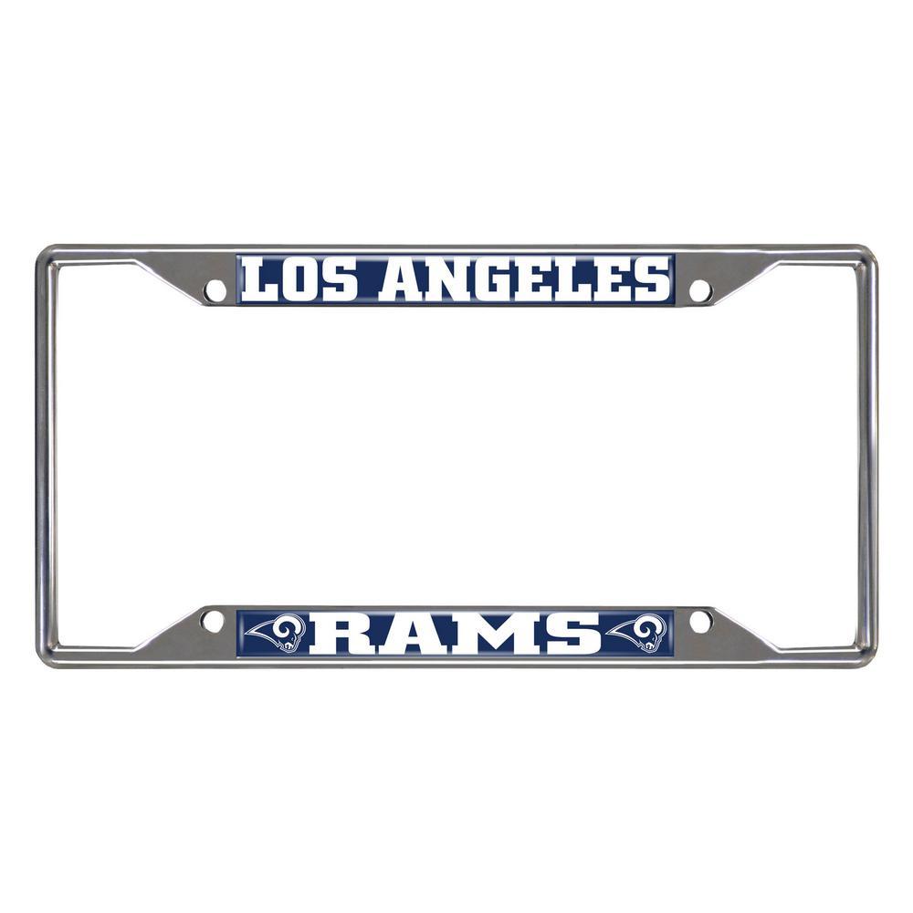 NFL - Los Angeles Rams Chromed Stainless Steel License Plate Frame