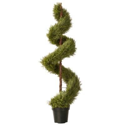 60 in. Upright Artificial Juniper Tree with Dark Green Round Growers Pot