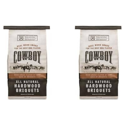 14 lbs. All Natural Hardwood BBQ Charcoal Briquets for Grilling (2-Pack)
