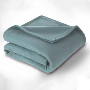 Supersoft Fleece Dusty Blue Polyester Twin Blanket