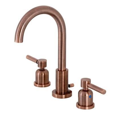 Concord 8 in. Widespread 2-Handle Bathroom Faucet in Antique Copper
