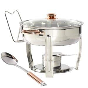 4 Qt. Stainless Steel Round Chafing Dish (8-Piece)