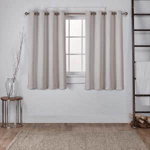 Silver Thermal Grommet Blackout Curtain - 52 in. W x 63 in. L (Set of 2)