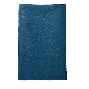 Putnam Matelasse Midnight Blue Cotton King Bedspread