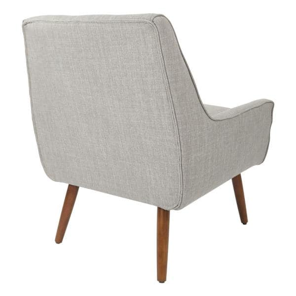 Office Star Products Rhodes Dove Fabric Chair With Coffee Legs Rhd51 M55 The Home Depot