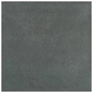 Twenties Black 7-3/4 in. x 7-3/4 in. Ceramic F/W Tile