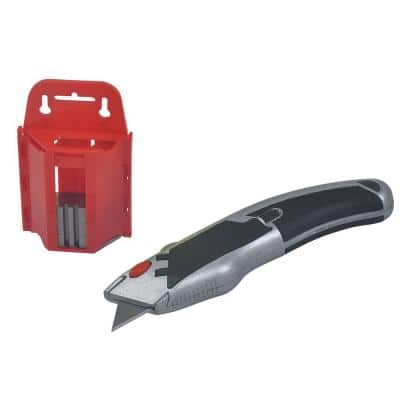 Retractable Utility Blade with Blade Holder and 100 Extra Blades