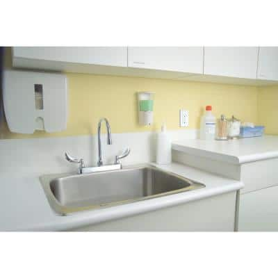 Commercial 2-Handle Kitchen Faucet in Chrome with Lever Blade Handles