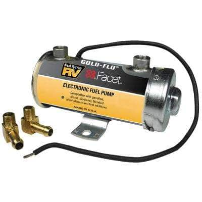 5.5 PSI to 4 PSI 34 GPH 12-Volt Gold-Flo High Performance Electronic Fuel Pump Kit Includes 74 mic Filter