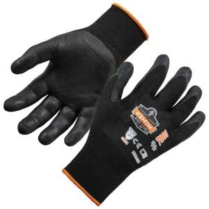ProFlex 7001 Large Black Abrasion Resistant Nitrile-Coated Gloves DSX