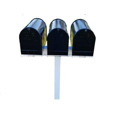 Vinyl Mailbox Posts Stands Mailboxes The Home Depot