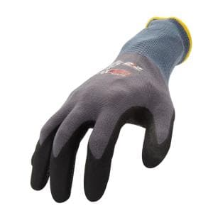 AX360 Dotted Grip Nitrile-dipped Medium Work Gloves